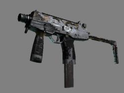 StatTrak™ MP9 | Black Sand (Battle-Scarred)