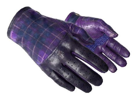 驾驶手套(★)   蓝紫格子 (破损不堪)