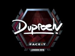 Sticker   dupreeh (Foil)   London 2018