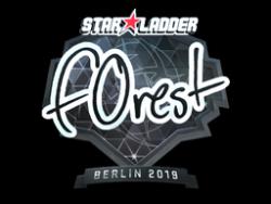 Sticker   f0rest (Foil)   Berlin 2019