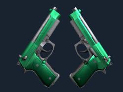 Dual Berettas   Emerald (Factory New)
