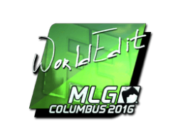 Sticker   WorldEdit (Foil)   MLG Columbus 2016