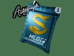 亲笔签名胶囊   Splyce   2016年 MLG 哥伦布锦标赛