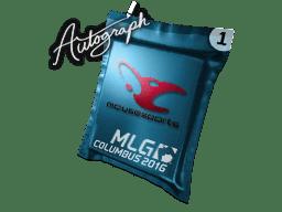 亲笔签名胶囊 | mousesports | 2016年 MLG 哥伦布锦标赛