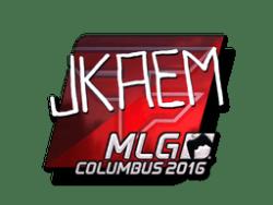 Sticker   jkaem (Foil)   MLG Columbus 2016