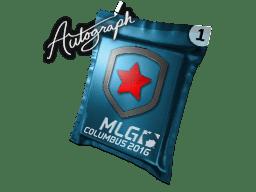 亲笔签名胶囊 | Gambit Gaming | 2016年 MLG 哥伦布锦标赛