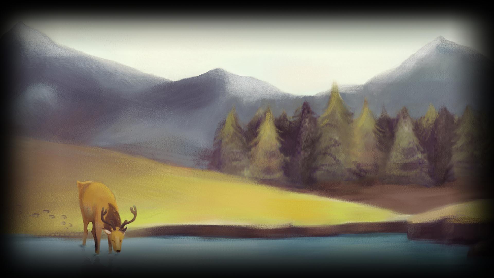 400240-The Deer Background!
